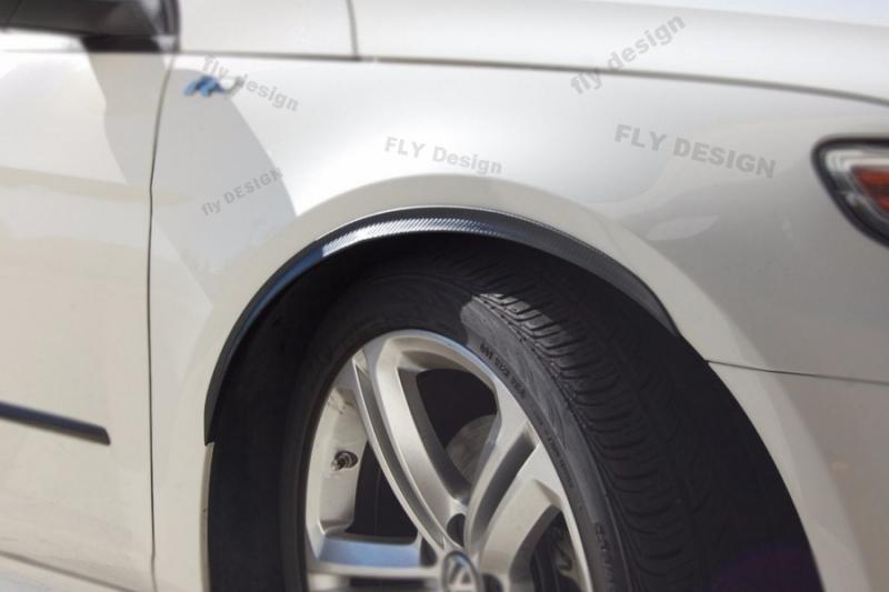 Jaguar 2Stk Radlauf Verbreiterung Kotflügelverbreiterung Leisten Carbon 25cm