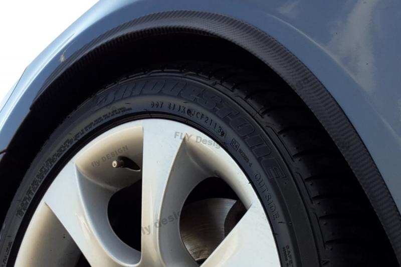 Jaguar 2Stk Radlauf Verbreiterung Kotflügelverbreiterung Leisten Carbon 35cm