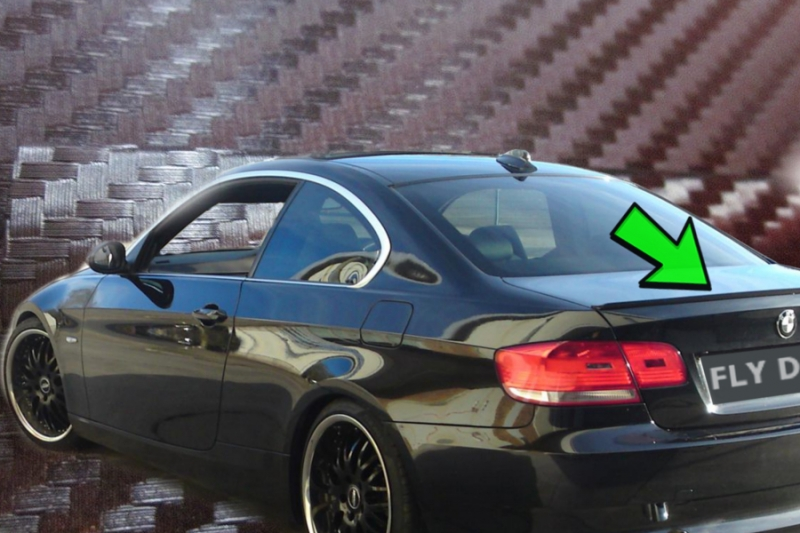 HECKSPOILER HECKFLÜGEL passend für BMW E90 3er LIMO Type A Lip becquet lèvre